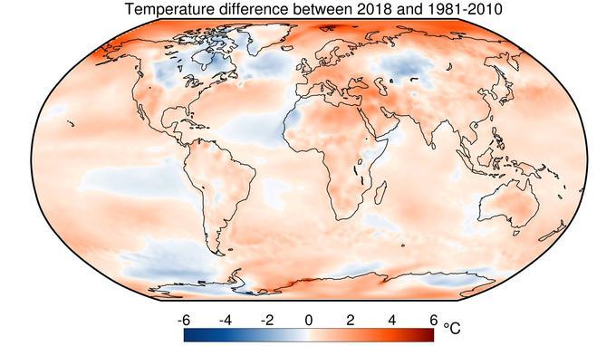 Température globale 2018